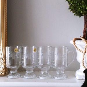 Princess House Set of 4 Mugs Crystal Tempered